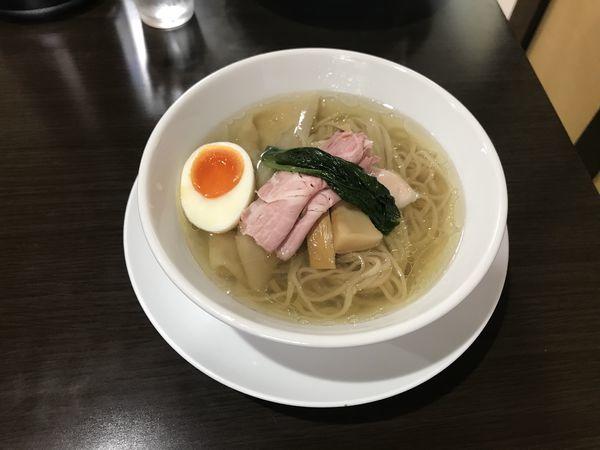 「鶏と魚の塩そば」@ガチ麺道場の写真