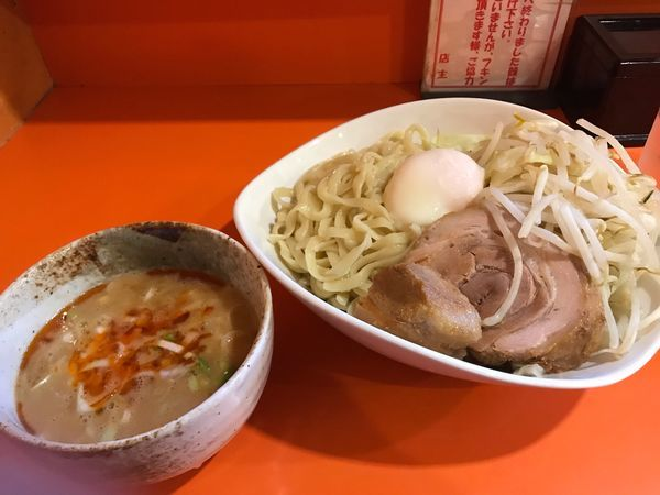 「つけ麺醤油 豚1枚 温玉付き 920円」@ちばからの写真