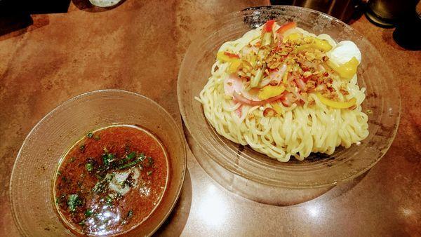 「【限定】冷チキ~ンカレーつけ麺(中盛)」@麺屋武蔵 武骨外伝の写真
