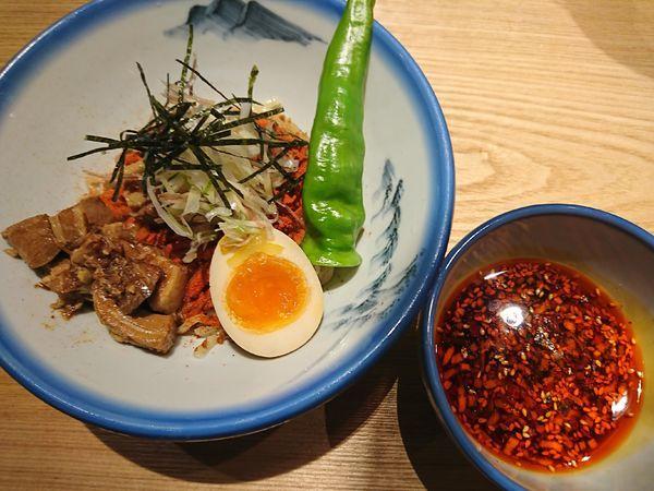 「柚子辛紅錦つけ麺(麺少なめ)1380円」@AFURI辛紅 kara kurenaiの写真