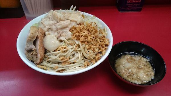 「つけ味冷や汁なし・大・甘~いアブラ(アブラ)¥990」@ラーメン二郎 中山駅前店の写真
