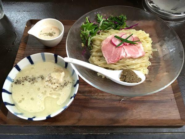 「ハートランドビール 中瓶 → 冷製浅利白湯SOBA」@神保町黒須の写真