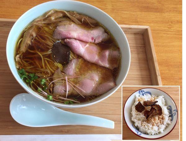 「限定 醤油ソバリミテッド &トリュフ飯」@自家製麺と定食 弦乃月の写真