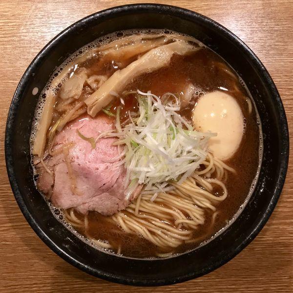 「魚介正油大盛 ¥700円(味玉サービスCP)」@中華そば 桃李の写真