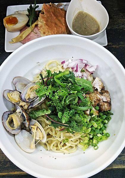 「(限定)蟹と貝の油そば 800円」@らぁめん こはくの写真