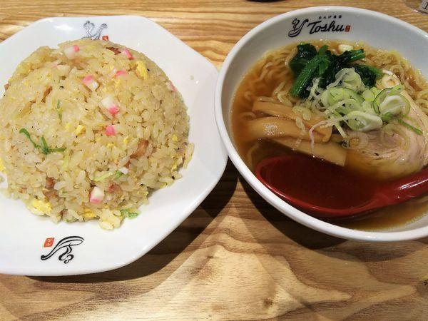 「Cセット(チャーハン・半ラーメン)¥702」@れんげ食堂 Toshu 湘南台店の写真