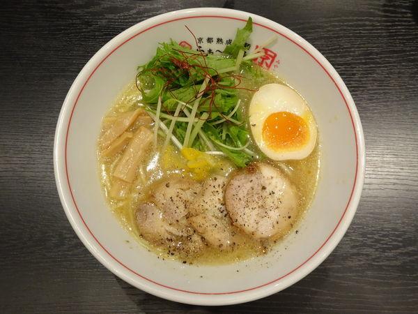 「特濃鶏しおらぁ~めん(並)」@京都熟成細麺らぁ~めん 京 河原町三条店の写真