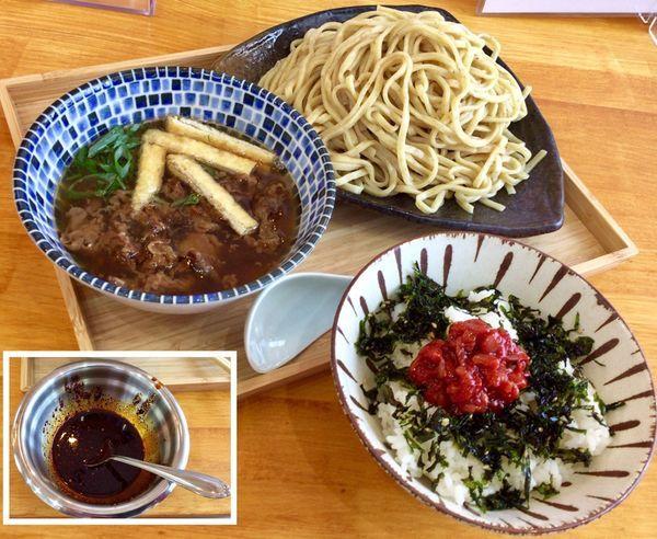 「数量限定 つけそば & チャンジャ飯」@自家製麺と定食 弦乃月の写真