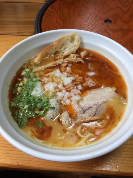 「鶏そば海老風味」@はりけんラーメン 南店の写真