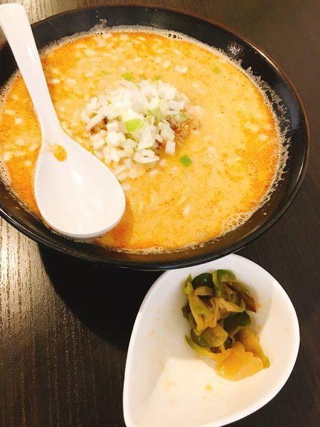 「担々麺 ザーサイトッピング」@神担 -GODTAN-の写真