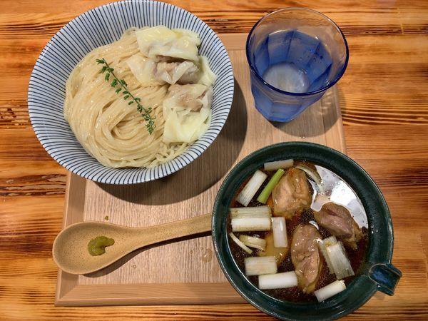 「しゃもつけ麺1100円」@柴崎亭 梅ヶ丘店の写真