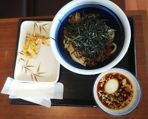 「旨辛肉つけうどん690円」@丸亀製麺 山形店の写真