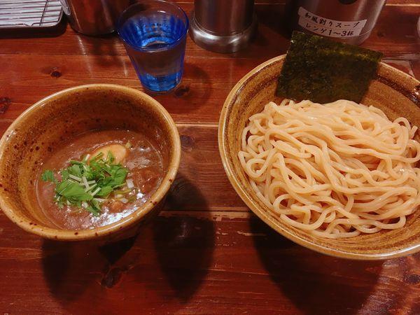 「煮干しつけ麺味玉900円❗️」@ベジポタつけ麺 えん寺の写真