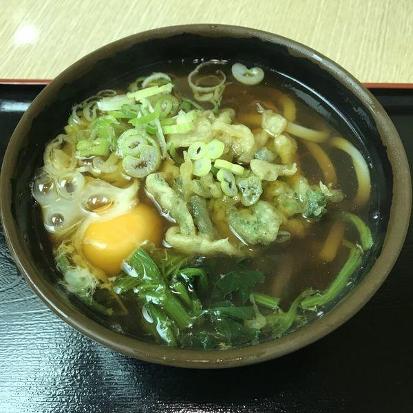 「お好み野菜天(¥430)+生玉子(¥50)」@そば作 本店の写真