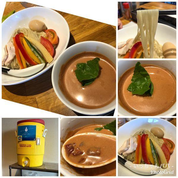 「完熟トマトのつけ麺 〜夏の彩り野菜を添えて〜 900円」@麺.SUZUKiの写真