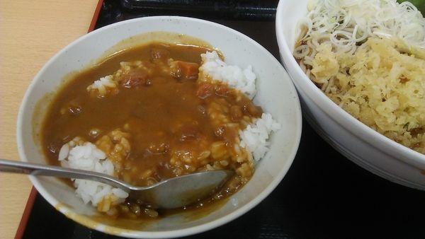 「冷 カレー丼セット 550円」@梅もと 船橋店の写真