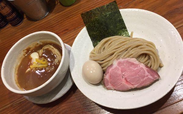 「豚つけそば味玉」@どろそば屋 ひろしの写真
