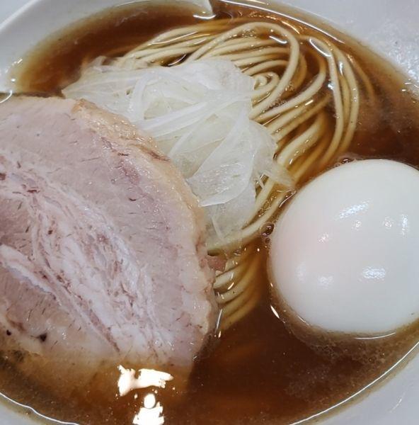 「中華ソバ 味玉入り+和え玉」@煮干中華ソバ イチカワの写真