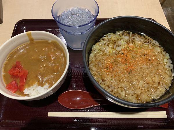 「ミニカレーセット 750円」@立喰いそば酒処 つきじ亭の写真