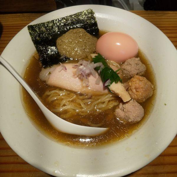 「要の塩 スキャンピー × 蟹味噌」@麺処 篠はらの写真