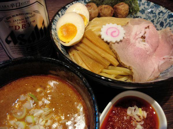 「辛口つけ麺(並) ¥900・追い辛 ¥100」@麺処はなぶさの写真