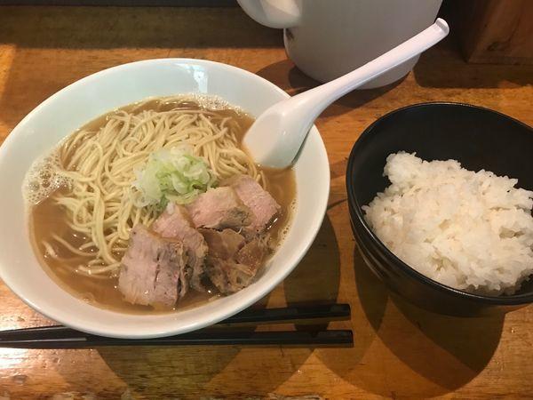 「肉そば中+小ライス+お持ち帰り肉そば」@自家製麺 伊藤の写真