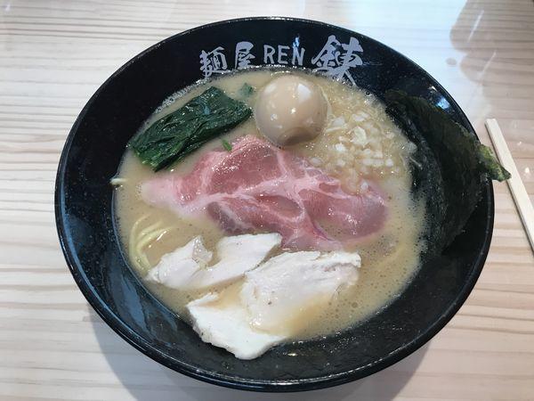 「豚白湯味玉」@麺屋 錬の写真