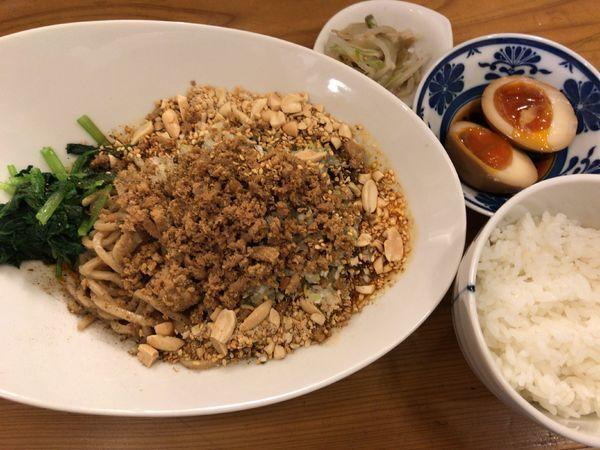 「本場成都の「汁なし担担麺」 ライス3品セット」@雲林坊の写真