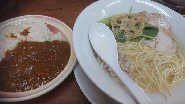 「中華Soba潮+ミニカレー」@kingyo noodlesの写真