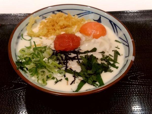 「明太クリーム釜玉(並盛)640円」@丸亀製麺 イーサイト高崎店の写真