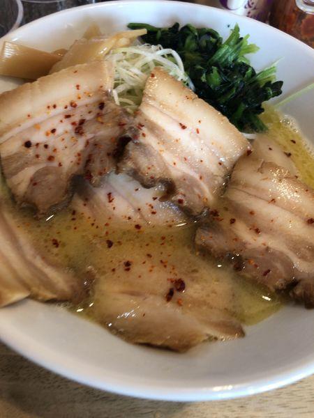 「鶏ポタラーメン特製」@麺屋三喜の写真