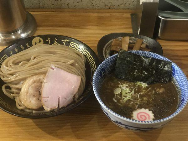 「つけ麺(並)+極太メンマ」@中華蕎麦うゑずの写真
