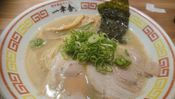 「ラーメン+替え玉+餃子」@博多屋台ラーメン一幸舎 東京キッテグランシェ店の写真