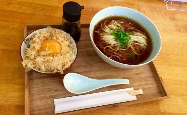「鶏節ご飯セット」@自家製麺と定食 弦乃月の写真
