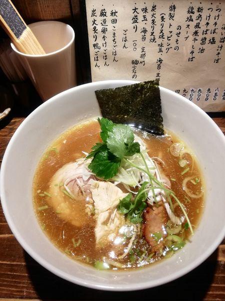 「鶏そば【醤油】 850円」@神田とりそば なな蓮の写真