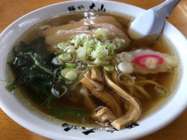 「らーめん」@青竹手打ちラーメン 麺や大山の写真