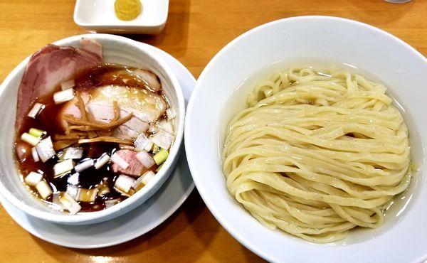 「昆布水つけ麺(柚子ペーストのトッピング)」@自家製中華そば 麺の虜の写真