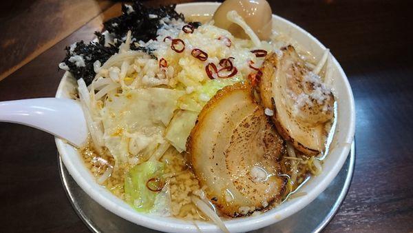 「潤次郎ラーメン+煮玉子 中脂」@らーめん潤 亀戸店の写真