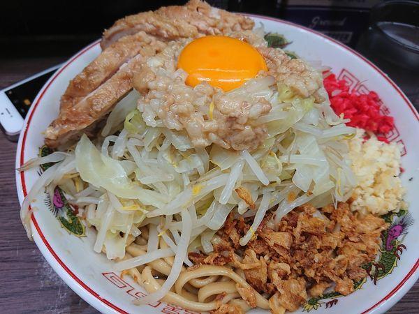 「小 豚  汁なし」@ラーメン二郎 横浜関内店の写真