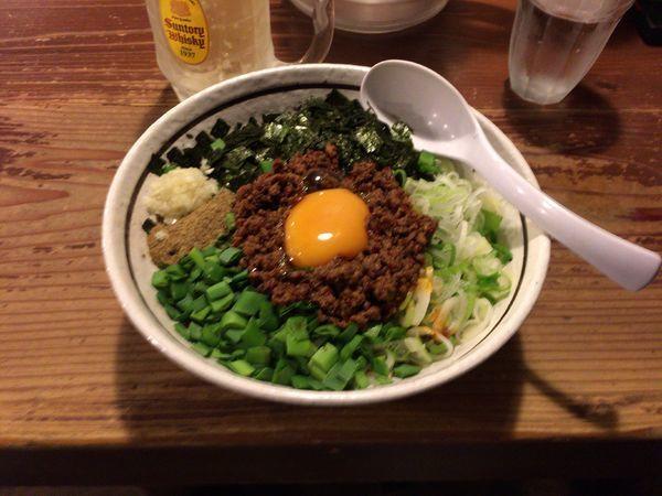 「まぜそば+ハイボール」@麺 酒 やまのの写真