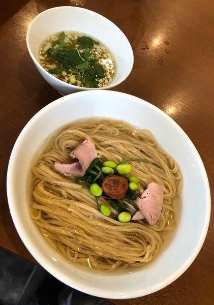 「期間限定・羅臼昆布水の冷たい塩つけ麺 ¥900」@中華そば 七麺鳥の写真