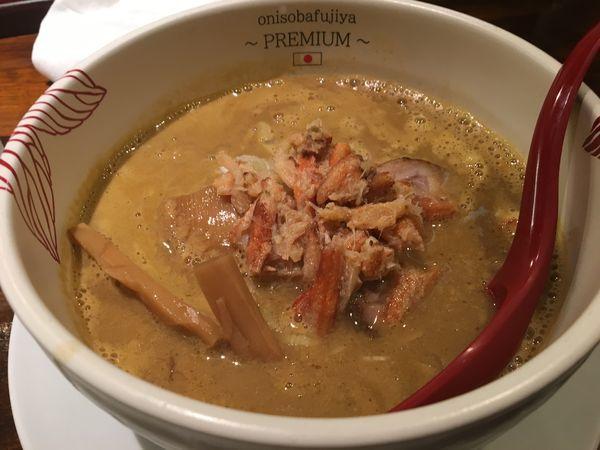 「濃厚蟹味噌らぁ麺」@onisobafujiya ~PREMIUM~の写真