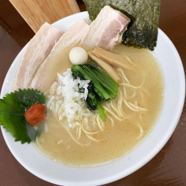 「【限定】白淡チャーシュー麺」@中華そば うお青の写真