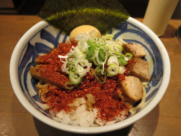 「油そば『麺大盛り・2辛』:850円」@つけ麺 麺也 時しらずの写真