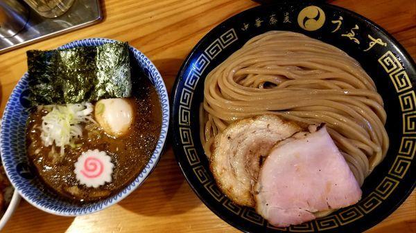 「つけ味玉(並)+チャーシューご飯」@中華蕎麦うゑずの写真