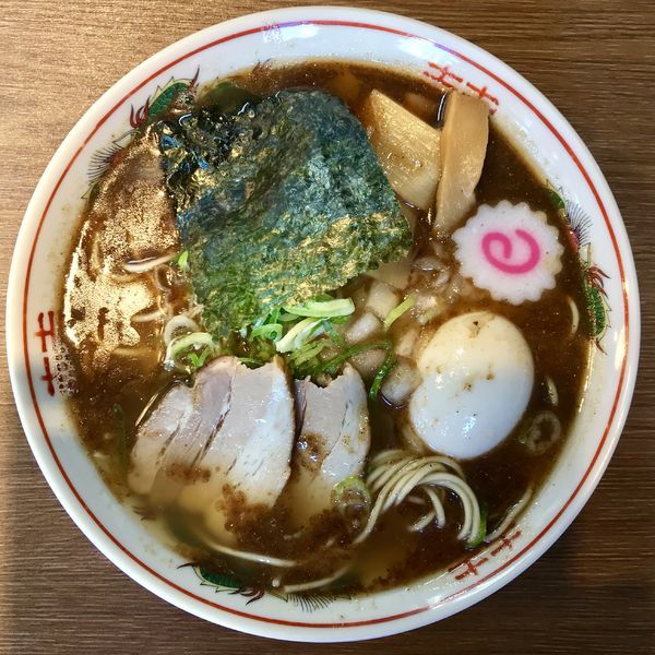 「支那そば ¥700円(味玉+100円)」@アントキのラーメン屋の写真