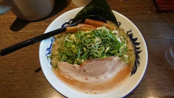 「九条ねぎラーメン(こってり) 928円」@麺工房 いなせの写真