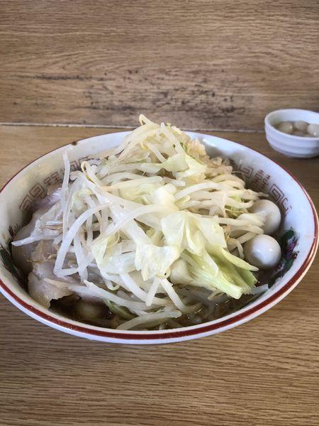 「ラーメン豚入り+岩下のらっきょう」@ラーメン二郎 栃木街道店の写真
