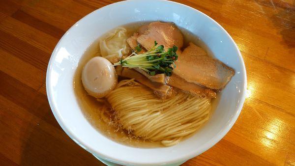 「塩ワンタンそば¥900-+味玉¥100-」@麺処 清水の写真