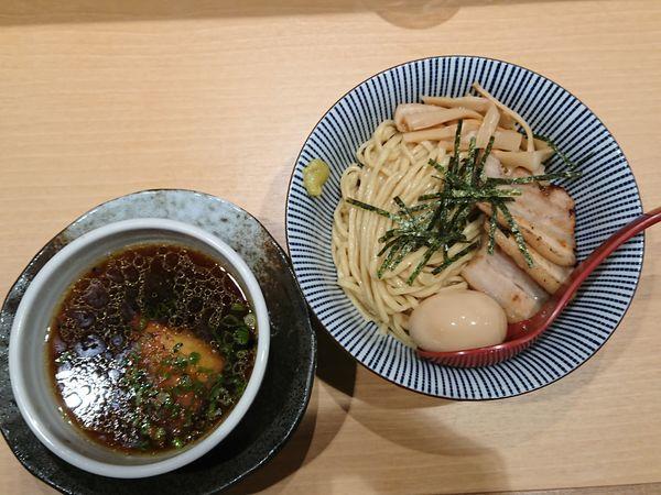 「【特製スペシャル】醤油つけ麺」@塩つけ麺 灯花の写真